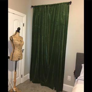 """Ballard Design Green Velvet Drapes 96"""""""